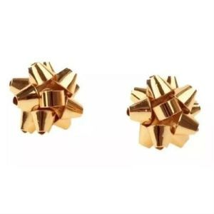 KATE SPADE Bourgeois Bow Stud Earrings Gold Tone